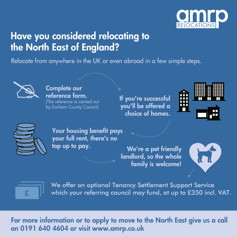 Relocate to the North East in a few simple steps